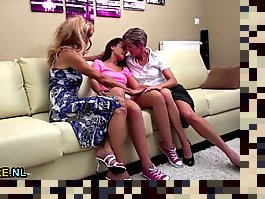granny and girl threesome